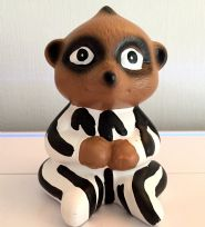 Baby Meerkat in Pyjamas Animal Money Bank ~ Black